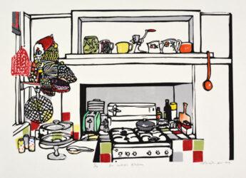 An artist's kitchen