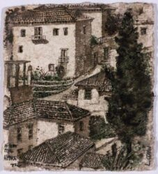 Rooftops, Hydra, the house of L. Cohen, I
