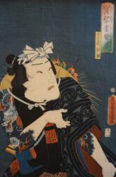 UTAGAWA KUNISADA (TOYOKUNI III) (1786 – 1864) – Icimura Uzaemon XIII in role of  Tekomae Kakitsu