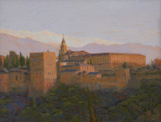Postcard from Granada -€ Alhambra sunset