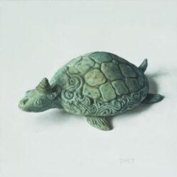 Balinese bronze turtle