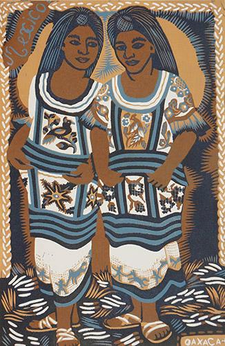 Two dancers from Oaxaca