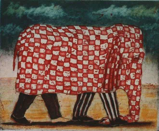 Elephant Gingham