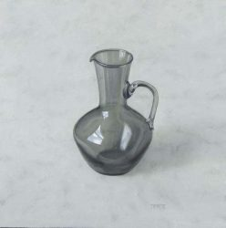Grey glass jug