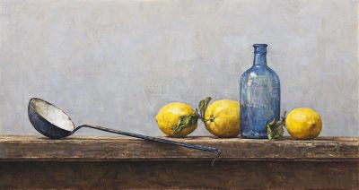 Ladle with lemons