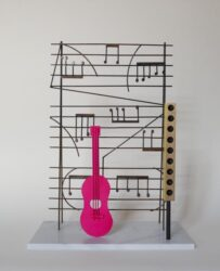 Magenta guitar