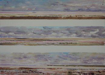 Lake Eyre, dusk