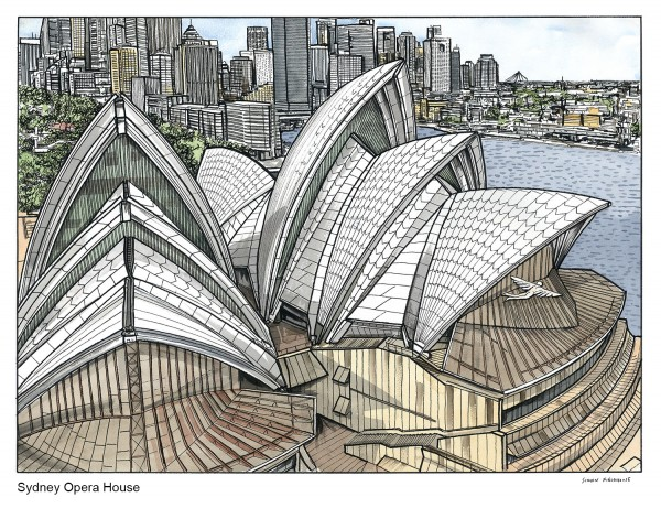 Simon Fieldhouse paints Sydney from a new angle