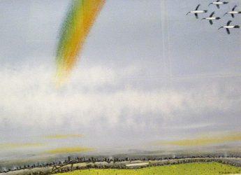 Rainbow falling