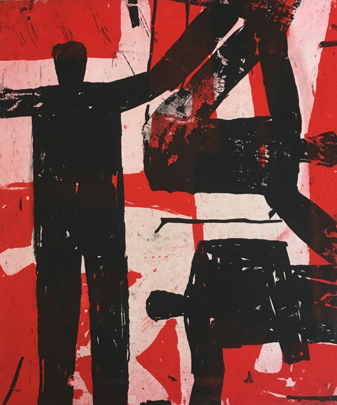 Figures on red sand II