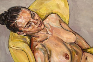 Study for, Nude in yellow chair