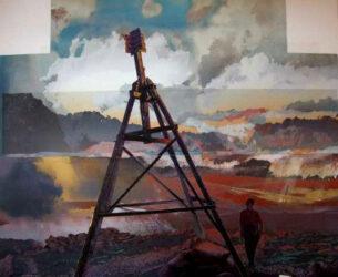 Snowy Mountains Identikit – Self Portrait on  Mt Twynam, Mt Kosciusko on Skyline – Atomic Theatre