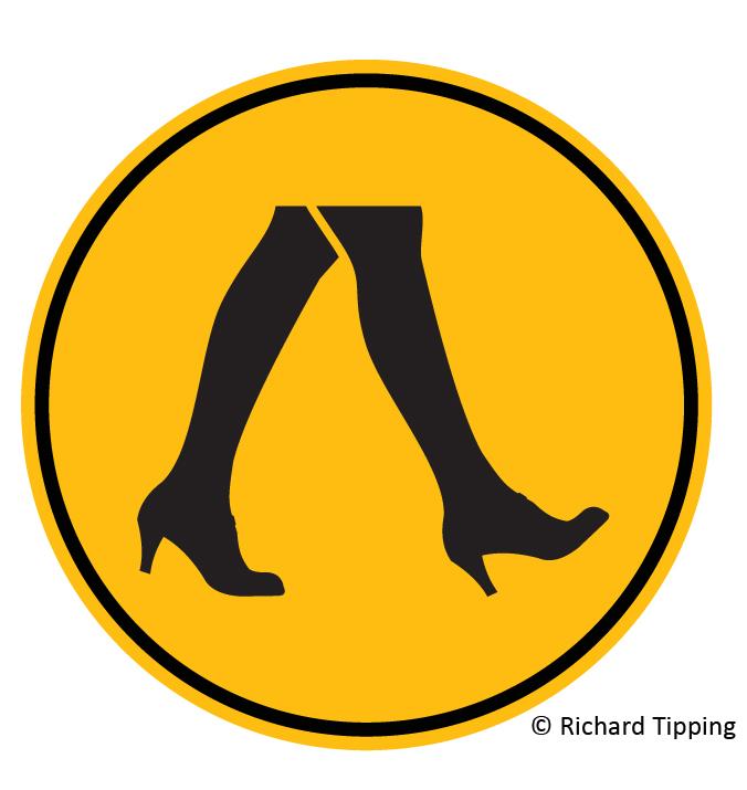 Woman crossing (high heels)