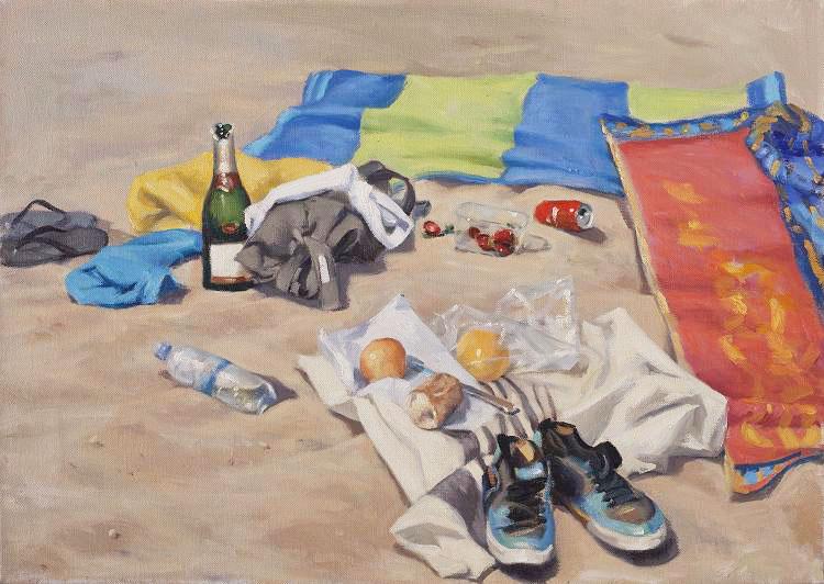 Beach still life