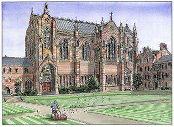 Man on letters – Keble College Oxford