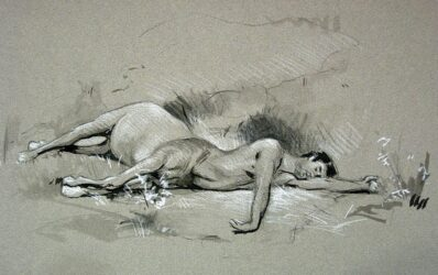 Study for, Wounded Centaur