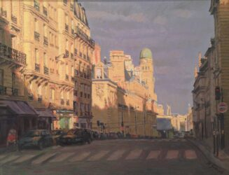 Postcard from Paris – sunset boulevard