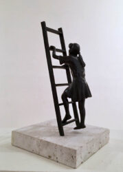 Girl climbing ladder