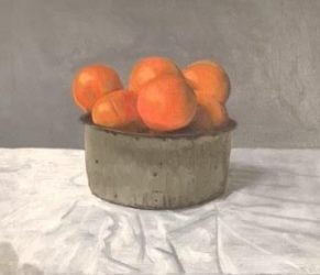 Oranges in cheese tin, large