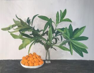 Oranges and Loquat Leaves, small