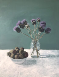 Plums and Globe Thistles