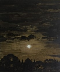 Full moon over the Florence