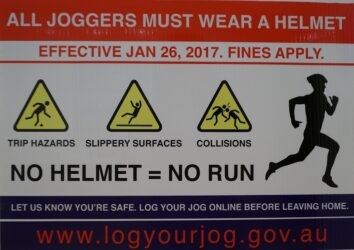 All joggers must wear helmet