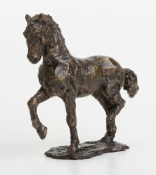 A horse made of chocolate