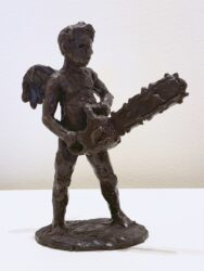 Cupid with chainsaw