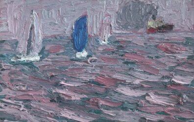 Blue sail, Hobson's Bay