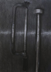 Hacksaw and crowbar