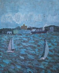 Sailing past, Williamstown