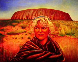 Portrait of Inger at Uluru