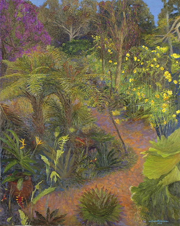 Garden with Allamanda & Tibouchina