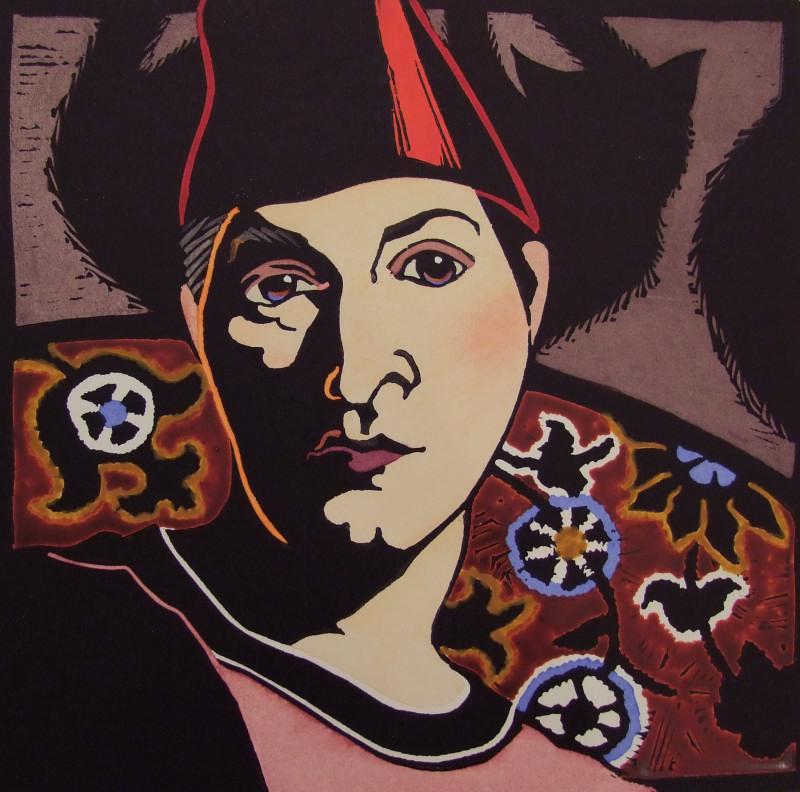 Self-portrait in Fez