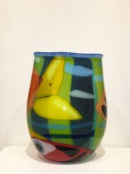 Vessel with fish and stripes – Deborah Halpern