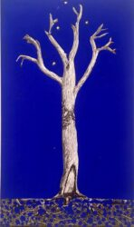 Tree with blue