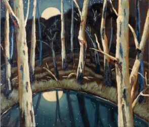 Study for reflected moon