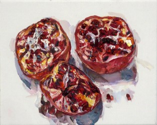 Three pomegranates II