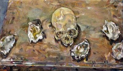 Skull with shells