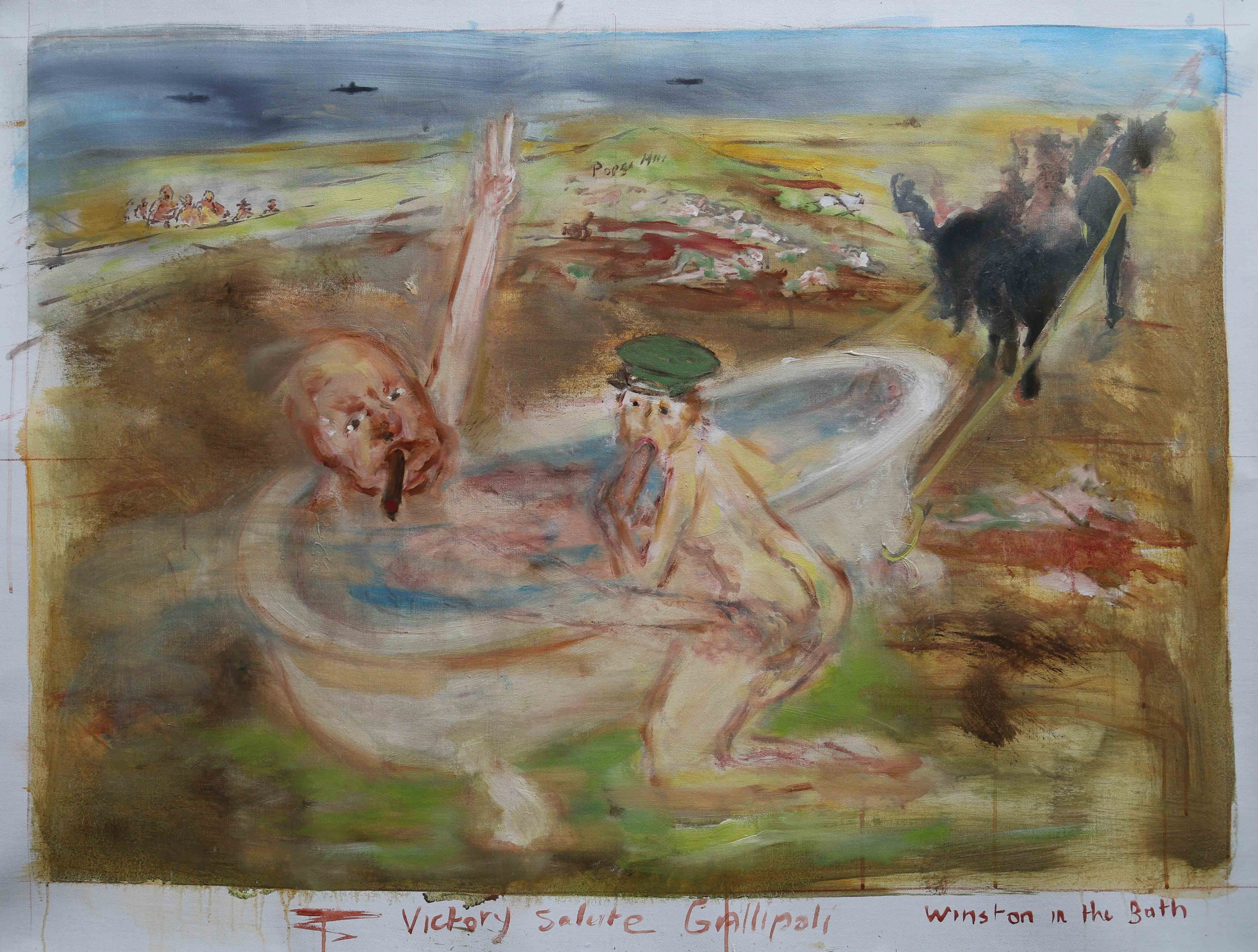 Churchill in the bath – Gallipoli 1915