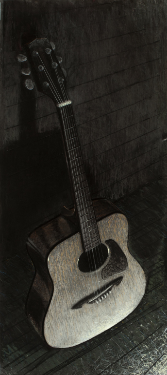 Off stage: the acoustic guitar