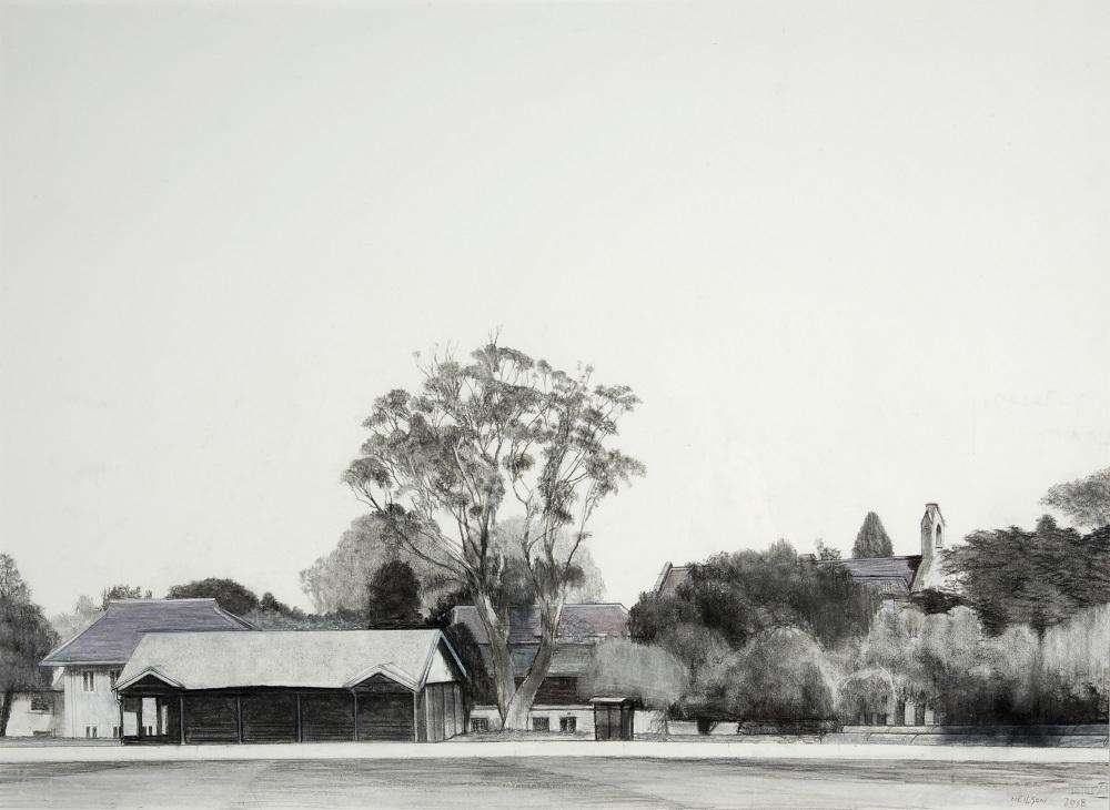 Melbourne University: the little grandstand
