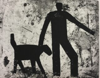 Figure and dog