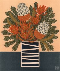 Acorn banksia & leucadendron