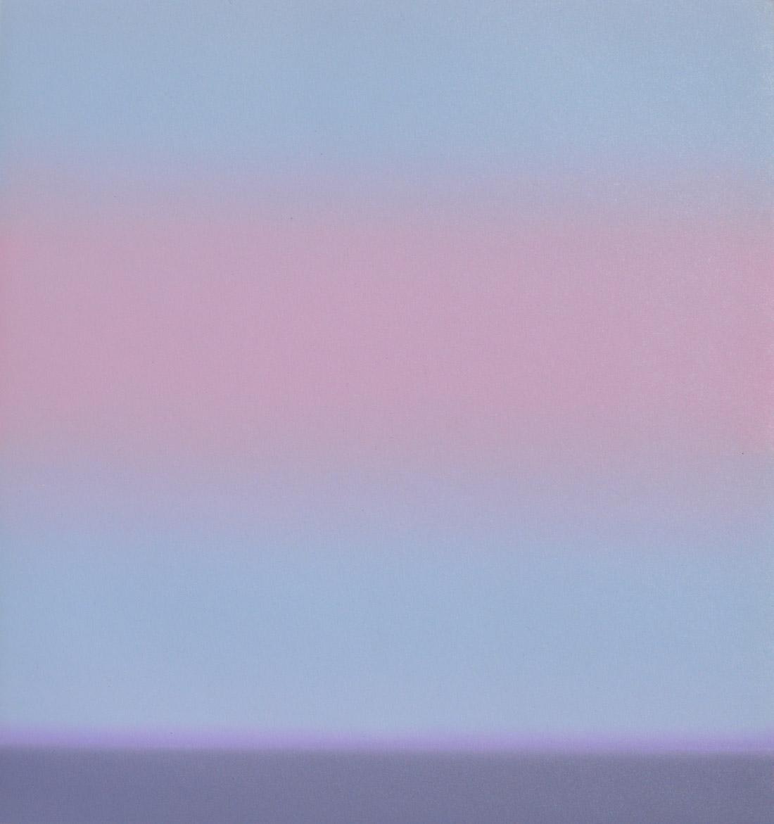 A pale pink sky (study)