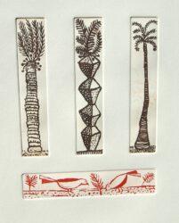 Three palms, two birds