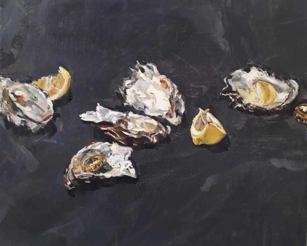 Oyster Shells with lemons II