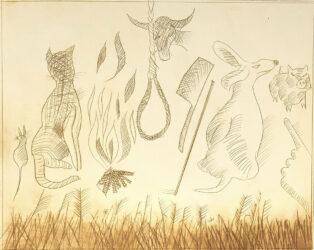 Fire won't burn stick, stick won't beat dog;…