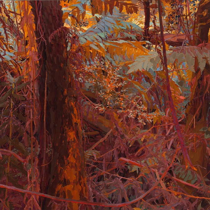 Mary Tonkin 'Ramble, Kalorama' (detail) 2017-19, oil on linen, 180 x 1890 cm (4)